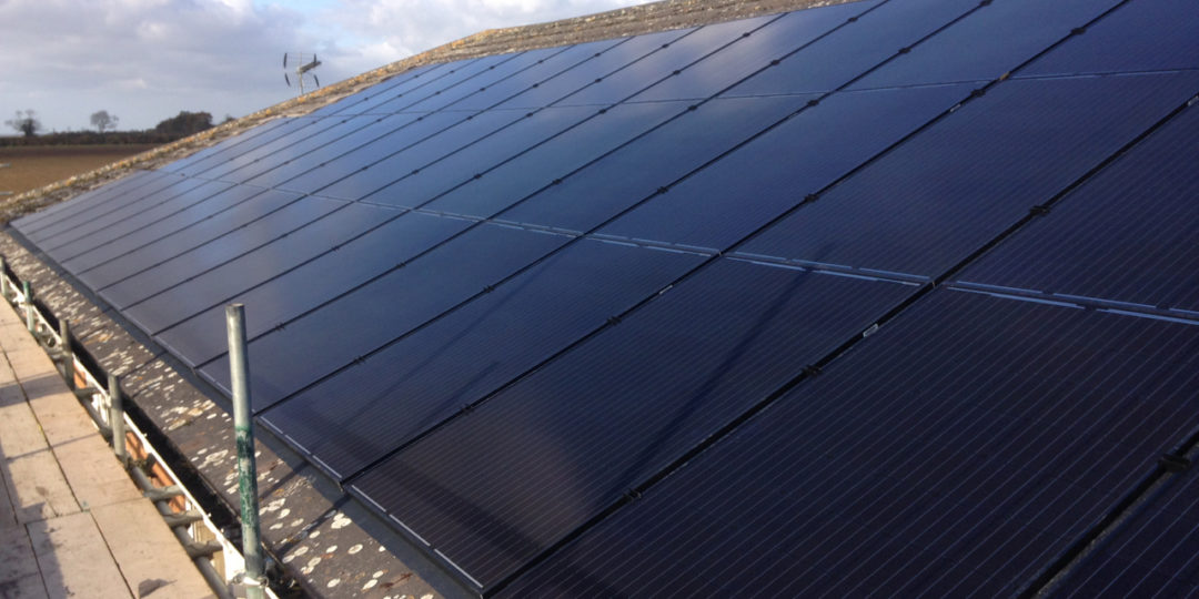 In roof 80 Unit Solar Panel Installation, Peterborough
